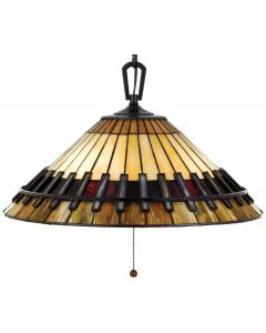 QZ/CHASTAIN/P Chastain Tiffany 3 Light Ceiling Pendant Light