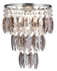 Nikki Easy Fit Ceiling Pendant Lamp Shade Light In Smoked Glass