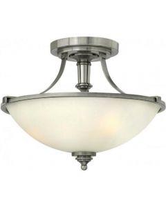 HK/TRUMAN/SF 3 Light Antique Nickel Semi Flush Ceiling Light