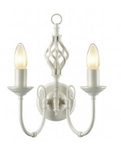 Barley 2 Light Classic Knot Twist Wall Light in Country Cream