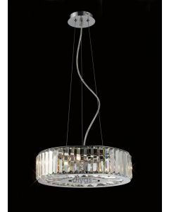 Diyas IL30072 Torre Crystal Ceiling Pendant Light in Polished Chrome Finish