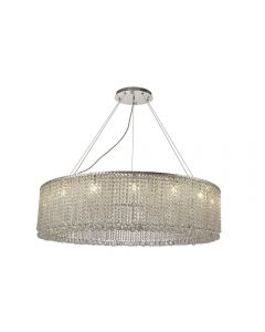 Diyas IL31732 Empire 15 Light Round Pendant Light In Polished Chrome