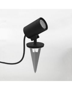 Astro 1401007 Bayville Spike Spot Outdoor Light In Textured Black