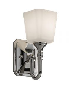 Elstead FE/CONCORD1 BATH Concord 1 Light Wal Light In Polished Chrome With Opal Etched Glass Shade