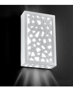 W969EL  Wall Light With Plaster Finish - Low Energy