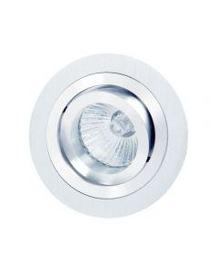 Mantra MC0001 Basic GU10 Round Swivel Downlight In Satin Nickel And Chrome