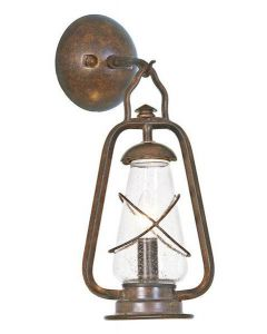 Elstead MINERS WALL wrought iron outside wall light, IP43