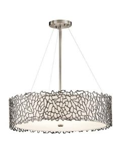 KL/SILCORAL/P/B Silver Coral Large Pendant Ceiling Light