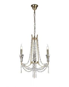Diyas IL31752 Armand 3 Light Ceiling Pendant In French Gold