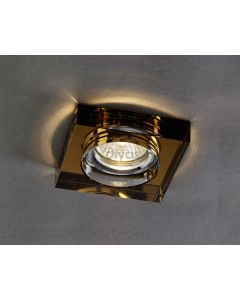 Diyas IL30822BZ Bronze Crystal Recessed Square Downlight Fascia