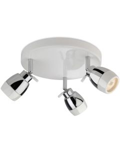 Firstlight 8203 Marine White 3 Light Bathroom Ceiling Spotlight, IP44