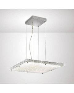 Diyas IL80073 Amelia Square Ceiling Pendant Light In Chrome
