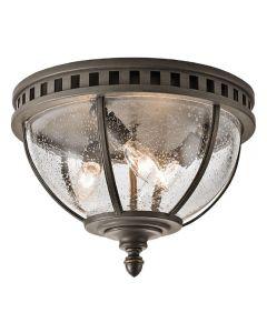 KL/HALLERON/F Halleron 3 Light Ceiling Flush Light In Londonderry