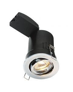 Saxby 50682 ShieldPLUS MV Adjustable Recessed Downlight in Chrome Finish