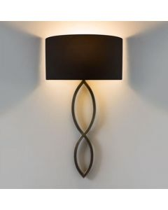 Astro Caserta Modern Wall Light in Bronze with Black Shade