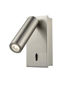 W072 Adjustable Recessed LED Wall Reading Light In Satin Nickel