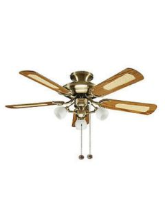 Fantasia 111962 Mayfair 42 In Ceiling Fan In Antique Brass With Reversible Blades And Light