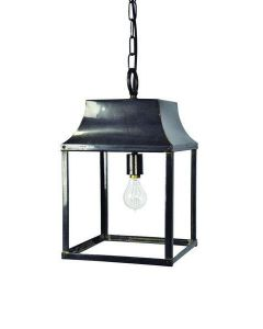 463B Medium Solid Brass Strathnmore 1 Light Hanging Lantern