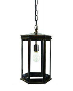 734 Small Solid Brass Metropolitan 1 Light Hanging Lantern