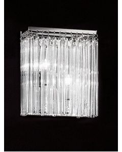 F2093/2 2 Light Glass Rod Wall Light