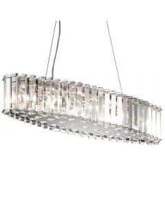 KL/CRSTSKYE/ISLE Crystal Skye 8 Light Island Chandelier Light In Polished Chrome