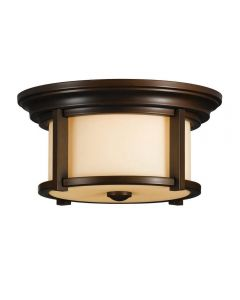 Elstead FE/MERRILL/F Merrill 2 Light Flush Mount Ceiling Light In Heritage Bronze
