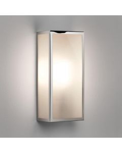 Astro 1183010 Messina Exterior Wall Light In Polished Nickel With Frosted Glass