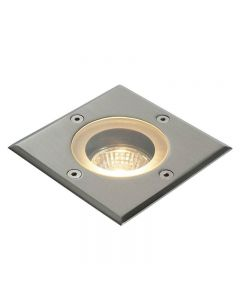 Saxby 52211 Pillar Square Outdoor Floor Light Stainless Steel IP44