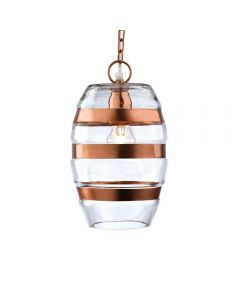 Firstlight 2347 Craft Copper and Glass Ceiling Pendant Light