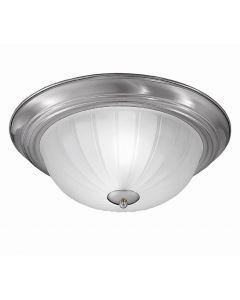 C5641 Flush Ceiling Light With Nickel Finish