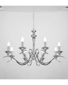Endon KORA-8CH Traditional 8 Light Chandelier With Chrome Finish