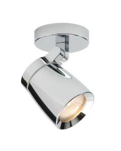 Saxby 39166 Knight 1 Light Bathroom Chrome Ceiling Spotlight