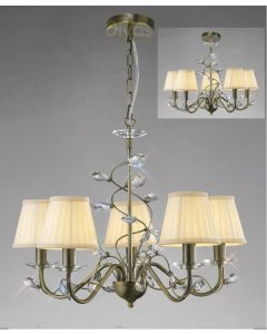 Diyas IL31225 + ILS31228 Willow Ceiling Pendant Light with Shades