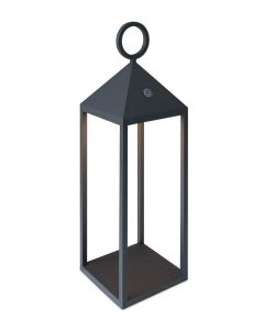 Mantra M6491 Astun Outdoor Small LED Lantern In Graphite - H: 470mm