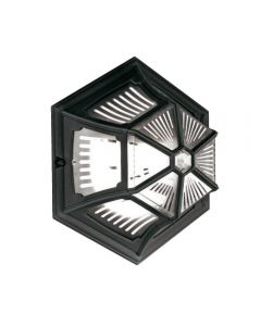 Elstead PR12 BLACK Parish 1 Light Exterior Flush Ceiling Lantern In Black