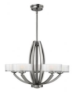 HK/MERIDIAN5 5 Light Brushed Nickel Hanging Ceiling Pendant