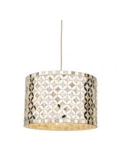 Dar ACQ6568 Acquila Easy Fit Ceiling Pendant In Mirrored Glass - Dia: 300mm