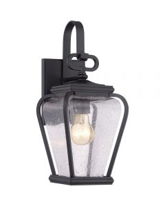 QZ/PROVINCE2/S Province 1 Light Small Wall Lantern Light In Mystic Black
