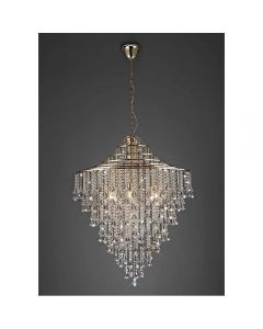 Diyas IL32773 Inina 9 Light Ceiling Pendant In French Gold