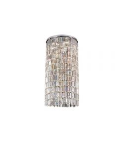 Diyas IL30076 Torre 6 Light Plate Ceiling Light In Polished Chrome
