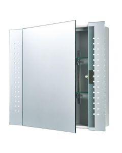 Saxby 60894 Ravelo Bathroom Shaver IR Mirrored Cabinet
