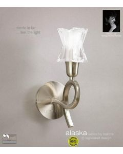 M8613SN/S Alaska Low Energy 1 Lt Switched Satin Nickel Wall Lamp