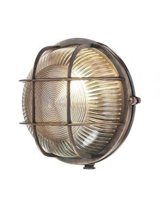 David Hunt Lighting ADM5064 Admiral 1 Light Round Wall Light In Antique Copper