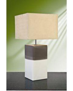 Elstead ALBA CREAM (12AL/LB36) Table Lamp In Grey/Cream