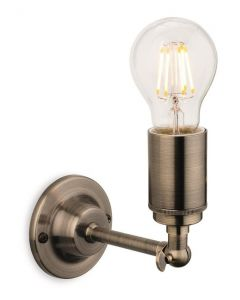 Firstlight 7650AB Indy 1 Light Wall Light In Antique Brass