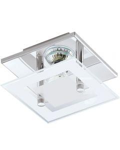 Eglo 94224 Almana 1 Light LED Wall/Ceiling Light In Chrome - L: 135mm