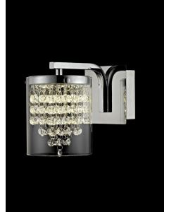 Impex LED608242/01/WB/CH Florina One Light Wall Light In Chrome