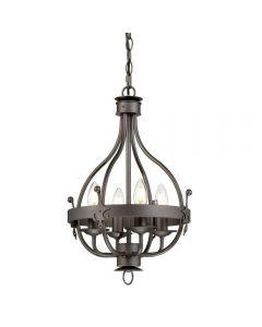 Elstead WINDSOR4GR Windsor 4 Light Pendant Chandelier In Graphite
