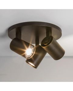 Astro Ascoli 1286005 Bronze 3 Way Round Ceiling Spotlight