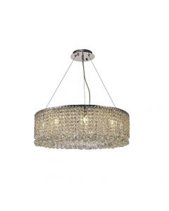 Diyas IL31730 Empire 9 Light Round Pendant Light In Polished Chrome